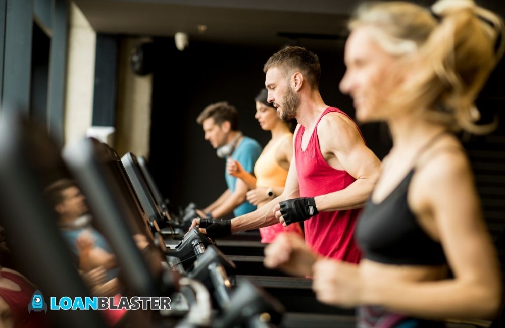 small business owners exercising at the gym